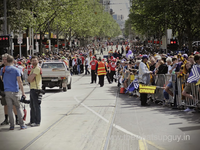 Federation Square Closed for AFL Parade