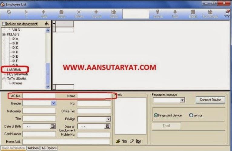 Memasukan Nama Karyawan (Employees) Pada Fingerprint