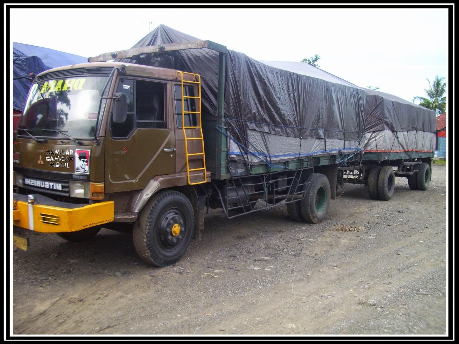 gambar mobil truk gandeng