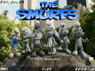 Theme The Smurfs Untuk BlackBerry