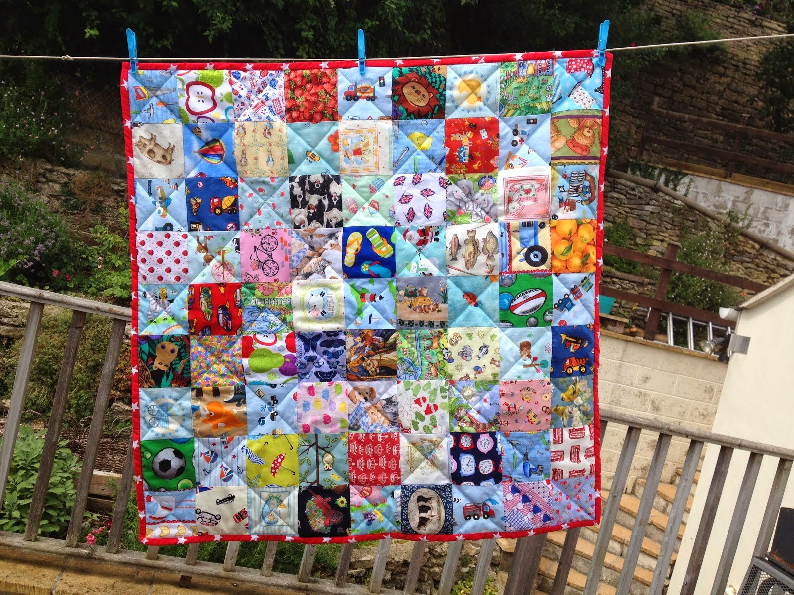 I Spy Baby Quilt for Charlie