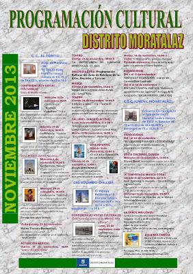 Programación cultural del Distrito de Moratalaz. Noviembre de 2013.