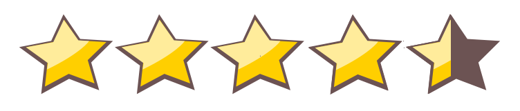Image result for 4,5 stars