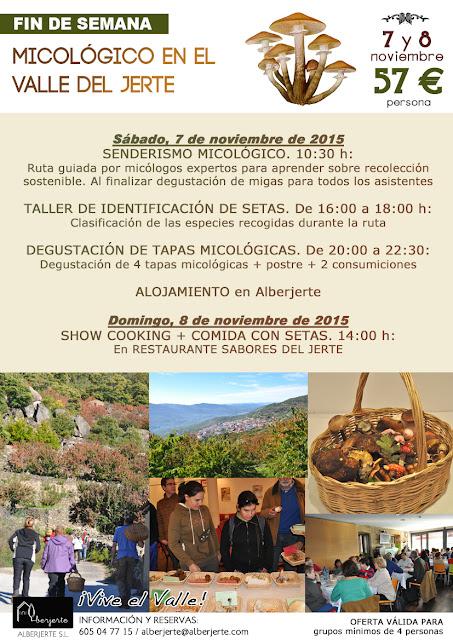 OFERTA: Fin de semana micológico en el Valle del Jerte