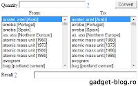 Complete mass converter