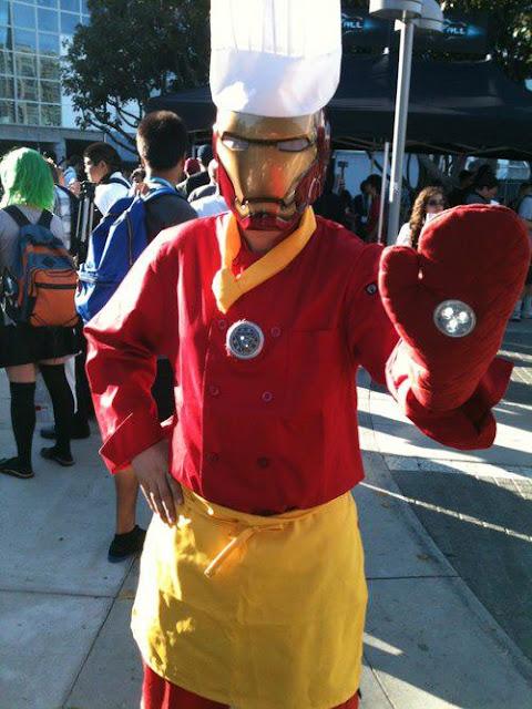 Cosplay de Iron Man cocinero