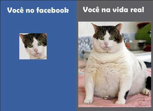 Você no Facebook. Você na vida real