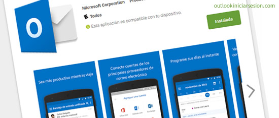 Calendario de Outlook en Android - iniciar sesion