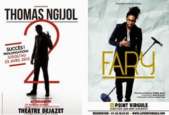 Affiches spectacle Thomas Ngijol Thatre Dejazet, humoriste Jamel Comedy Club Fary Point Virgule