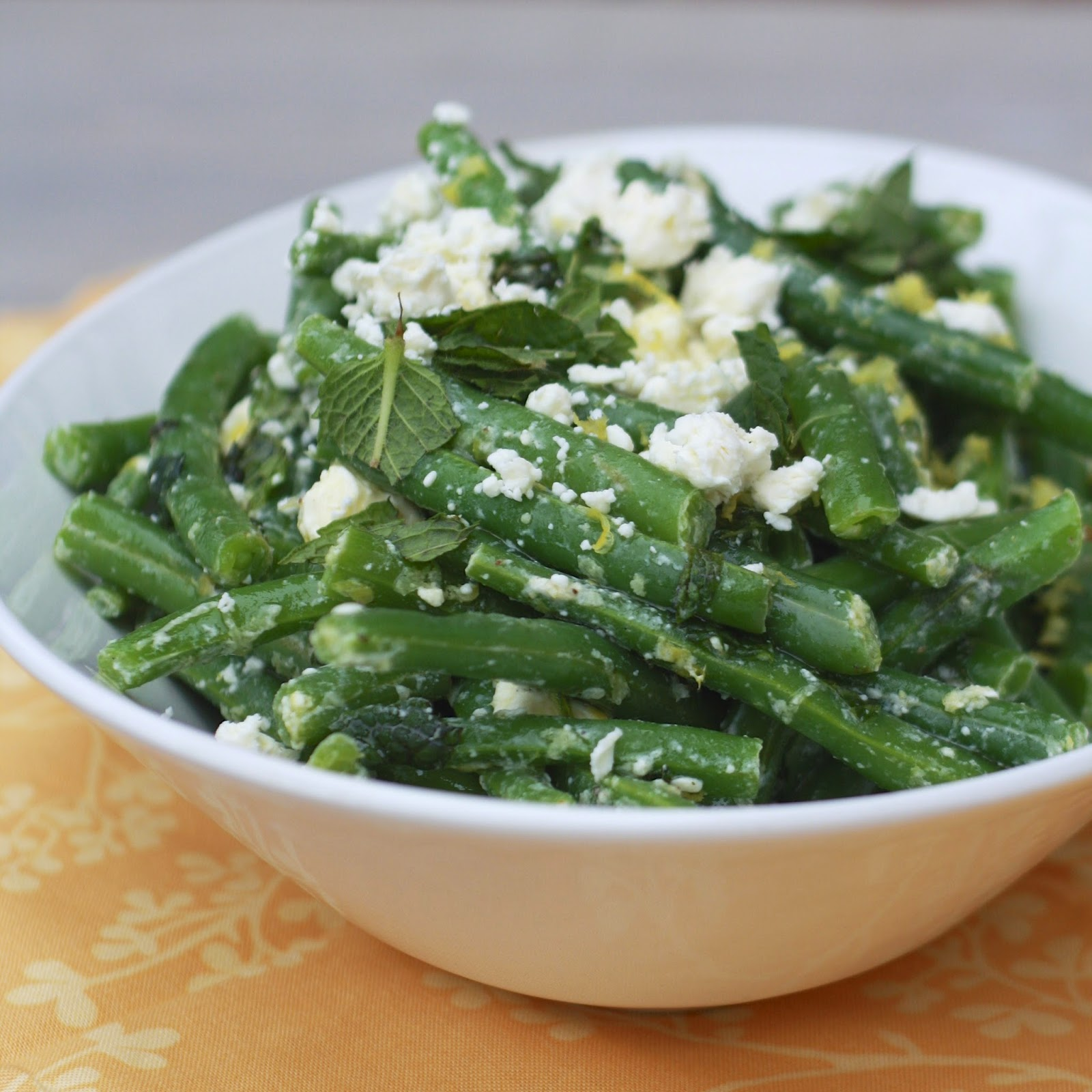 Green Beans with Feta and Mint | The Sweets Life