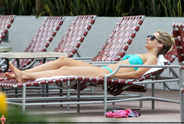 Ashley Tisdale - Bikini Candids in Miami