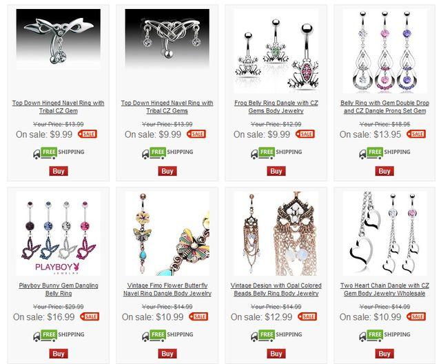 Gems Body Jewellery Wholesale