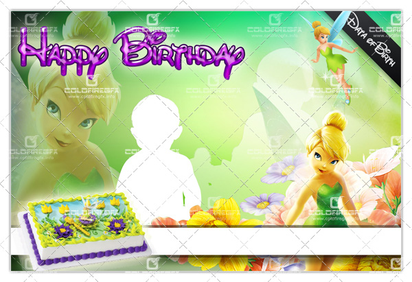 TinkerBell Birthday Template Free Download ~ PSD Files Download
