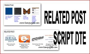 Memodifikasi Dan Menambahkan Title Tag Thumbnails Related Posts DTE