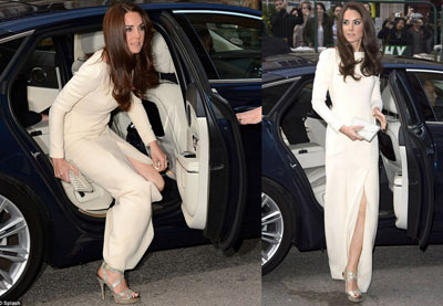 Night Dress on Middleton Wears A Daring Dress For A Night Out With Prince William