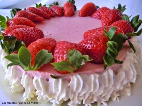 Tarta Mousse de Fresas con Mascarpone