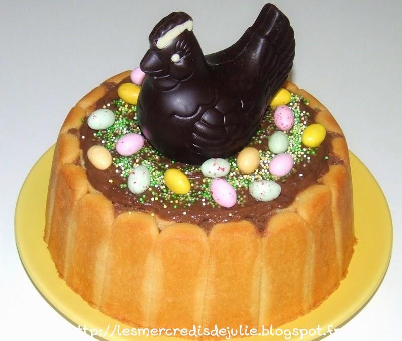 les mercredis de julie dessert de p ques charlotte poires chocolat. Black Bedroom Furniture Sets. Home Design Ideas