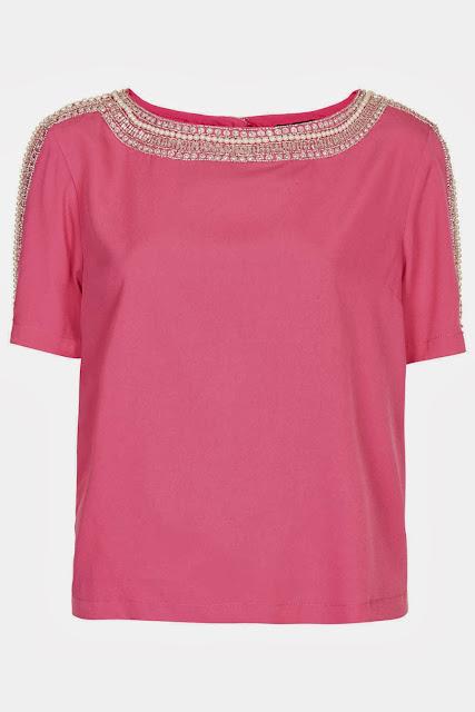 pink embellished tee