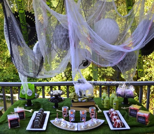 zombie party treat table