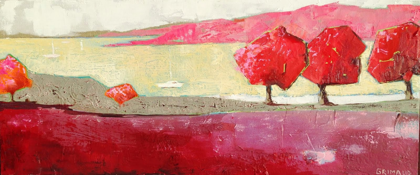 Rive rouge (70x30)