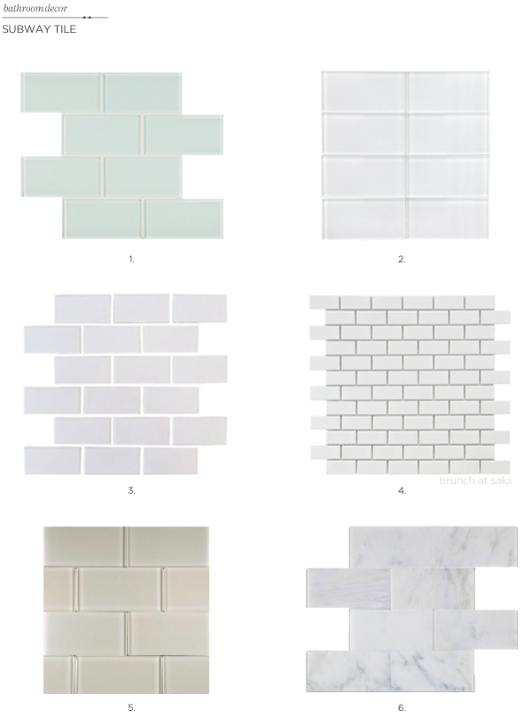 ideas for subway tile