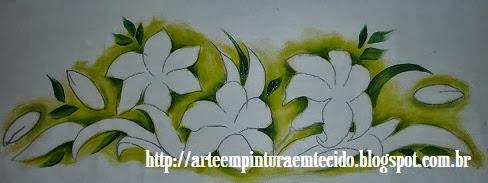 pintura em tecido sombreado