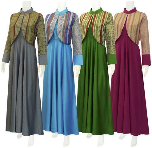 Model Baju Gamis Terbaru Navilla Batik Bagoes Solo