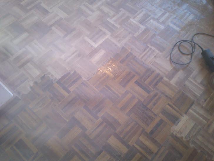 montaje 2012 restauracion de suelo  de parquet en sapely