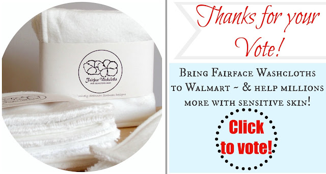 Rosacea washcloths can help more with sensitive skin by voting to get them to Walmart