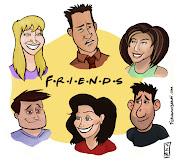 Acabei com uma versão de um desenho animado de friends. (friends)