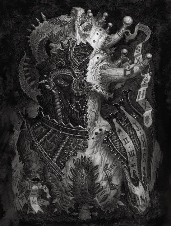 Matthew G. Lewis lostkeep deviantart ilustrações sombrias fantásticas terror grotesco