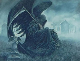 Angel of Death / Grim Reaper wearing the famous black cloak