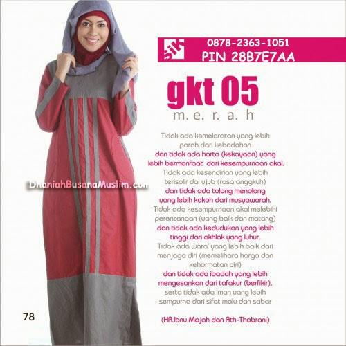 Gamis Sik Clothing GKT 05 Merah