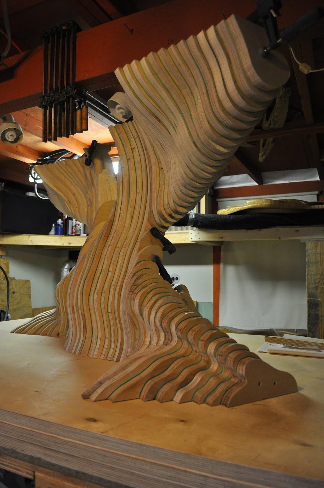 David knopp sculpture work in progress