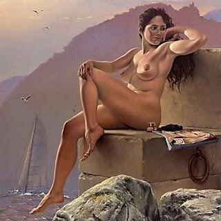 Desnudo con Paisaje Marino