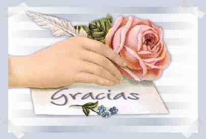 tarjetas de agradecimiento con una rosa