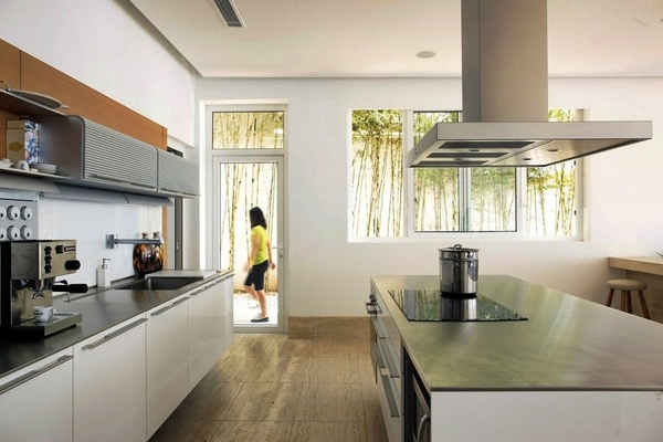 Natural modern interiors modern beach house batangas for Modern kitchen design philippines