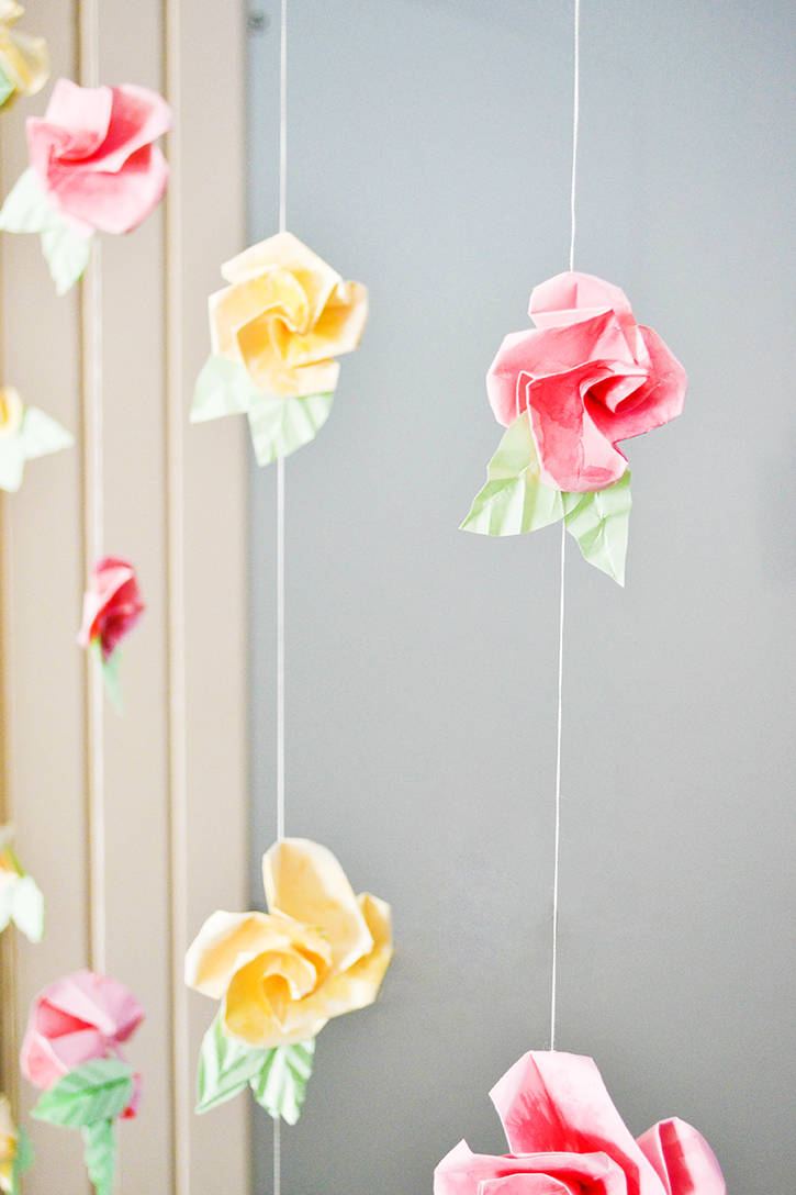 Craft A Doodle Doo Inspiration Nation Diy Origami Flower Curtain