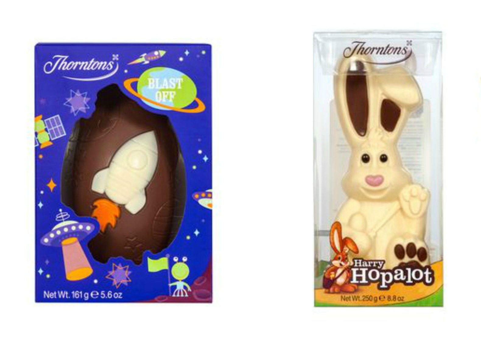 Thorntons Rocket Egg and Hopalot Rabbit