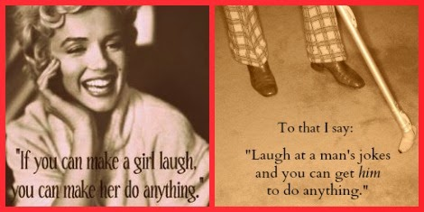 Marilyn Monroe quote with a funny retort about men