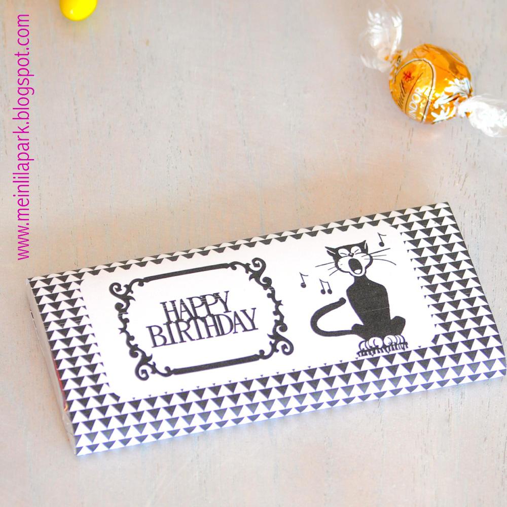 Printable Birthday Wrapping Paper Free ~ Free printable birthday chocolate wrap paper ausdruckbares geschenkpapier freebie meinlilapark