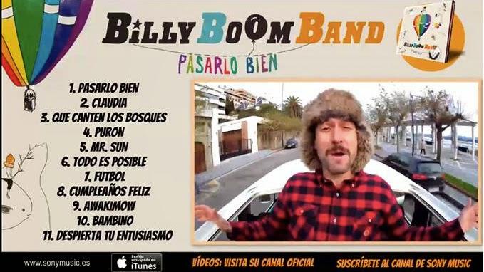 billy boom band - pasarlo bien - grupo pop rock español para niños
