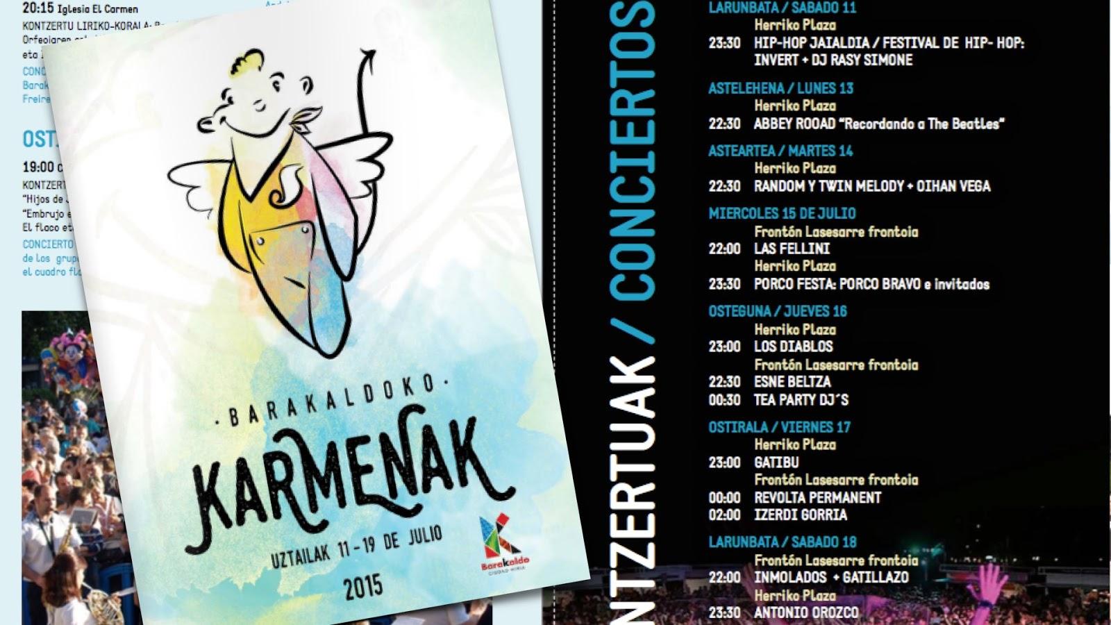 Barakaldo Digital: Las fiestas del Carmen incluyen 300 actividades y ...