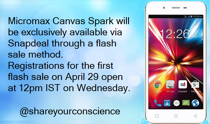 micromax canvas sparks