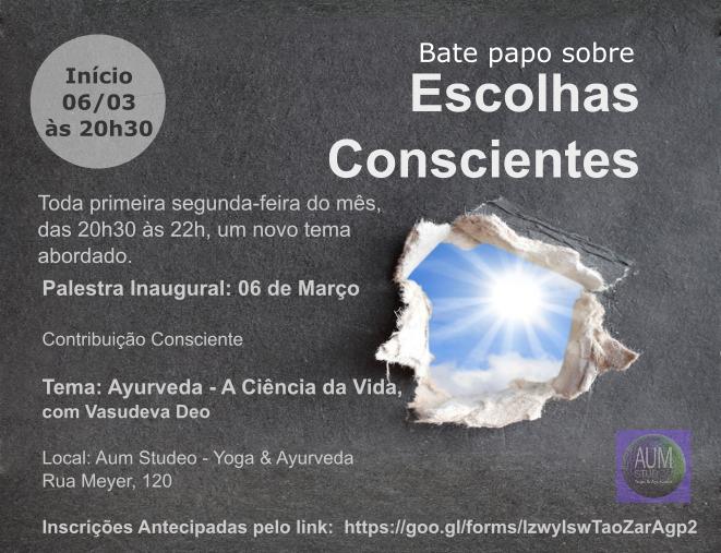 BATE PAPO SOBRE ESCOLHAS CONSCIENTES