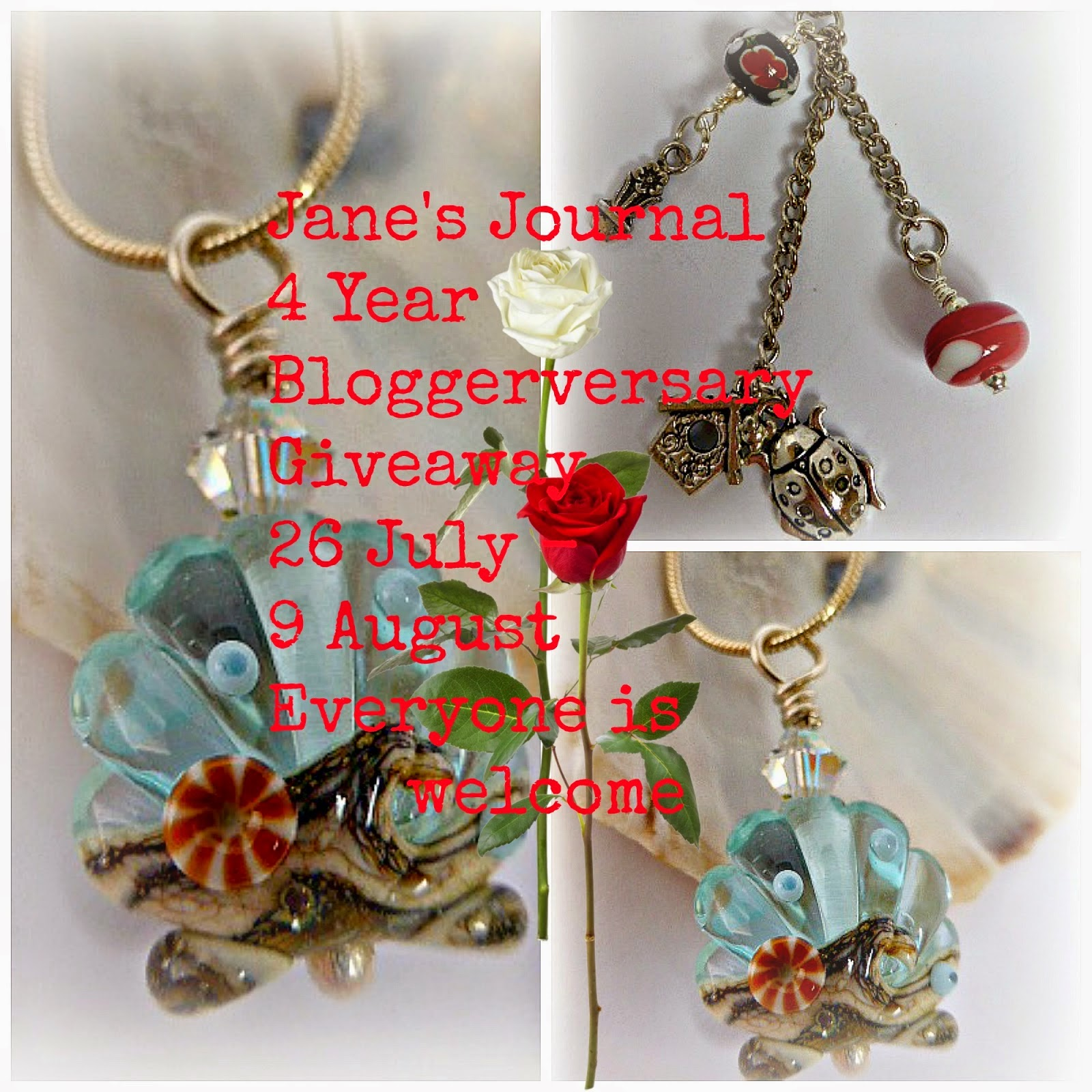 Jane's Journal 4 Years Blogging Giveaway
