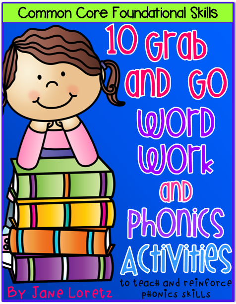 http://www.teacherspayteachers.com/Product/Word-Work-and-Phonics-Activities-10-Grab-and-Go-1372613