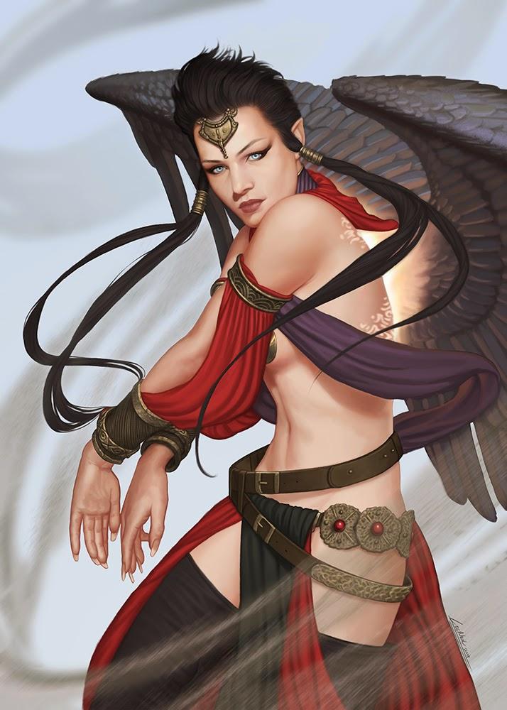 illustration de LaVata E. O'neal représentant une ange noire