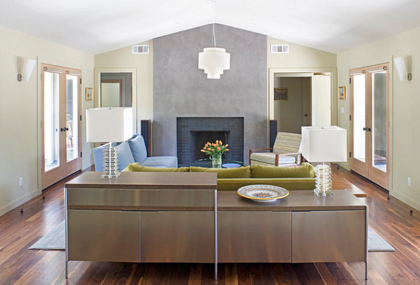Cabinet Behind Sofa Small Living Room Interior Design Models And - 20 modern credenzas with contemporary flair