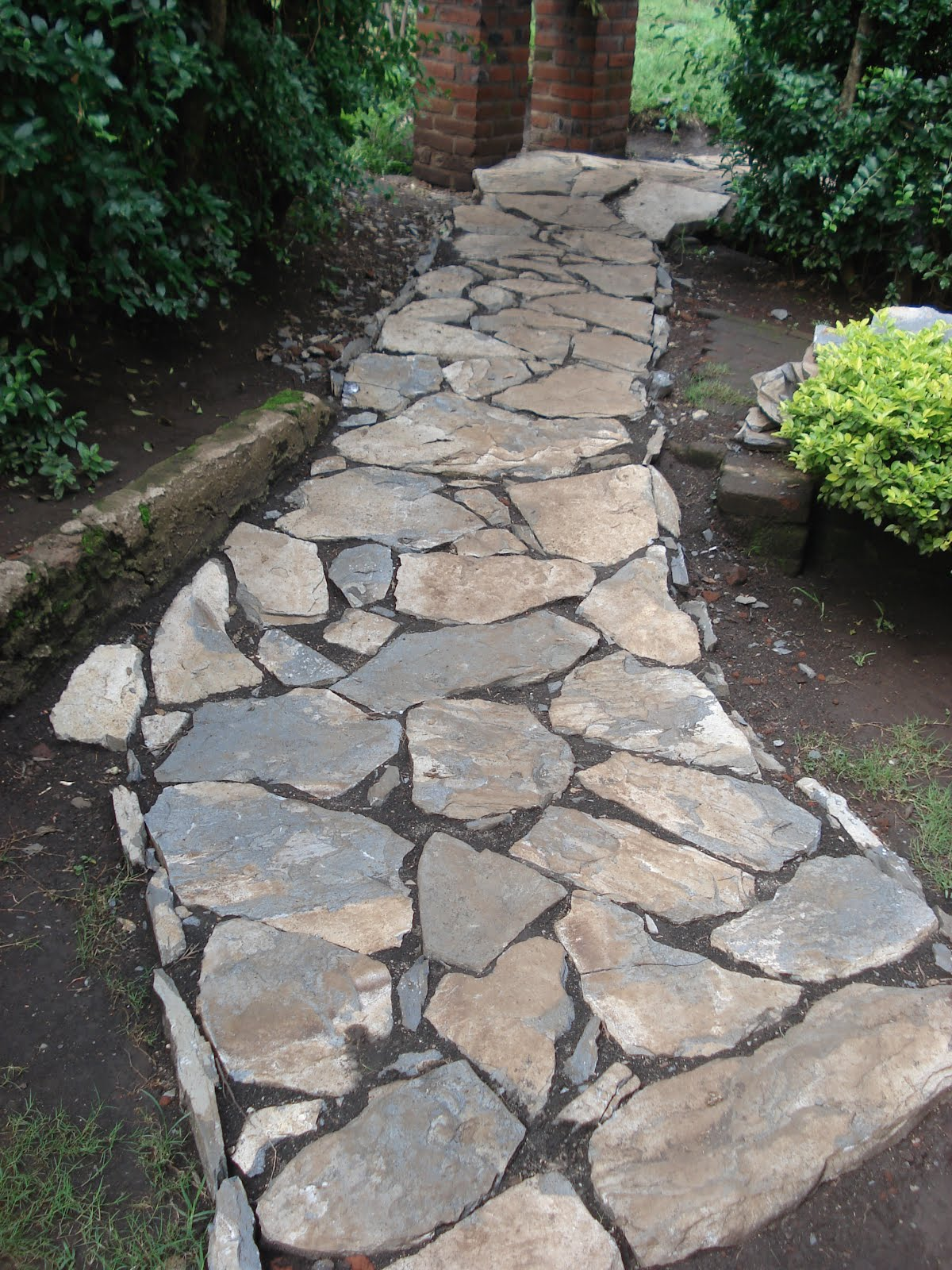Alternative Building Construction in Tanzania Stone walkway